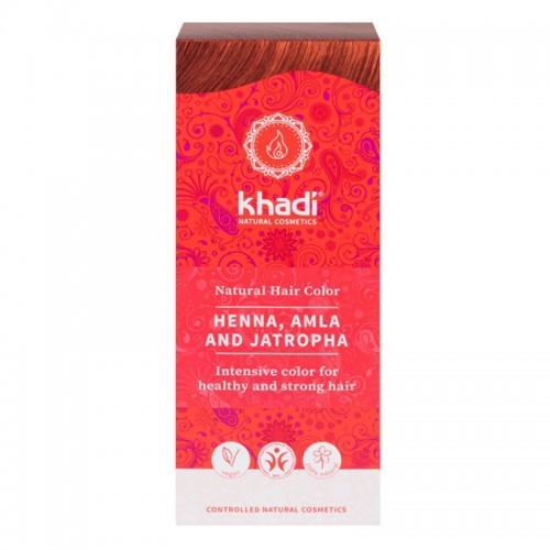 Henna Natural con Amla y Jatropha Khadi 100g