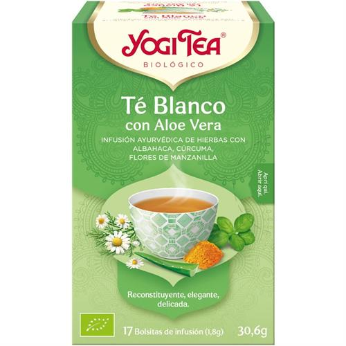 Infusión Té Blanco con Aloe Vera Yogi Tea Bio 17 Bolsitas 30,6g