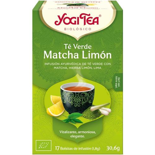 Infusión Té Verde Matcha con Limón Yogi Tea Bio 17 Bolsitas 30,6g