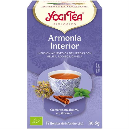 Infusión Armonía Interior Yogi Tea Bio 17 Bolsitas 30,6g