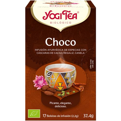 Infusión de Chocolate Yogi Tea Bio 17 Bolsitas 37,4g