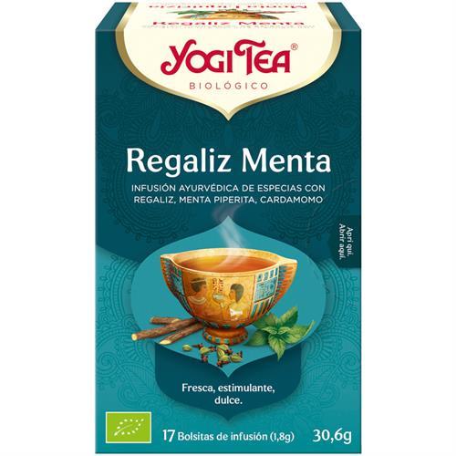 Infusión de Regaliz y Menta Yogi Tea Bio 17 Bolsitas 30,6g