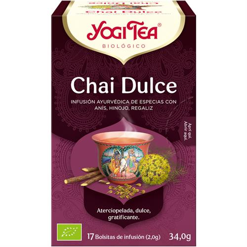 Infusión Chai Dulce Yogi Tea Bio 17 Bolsitas 34g