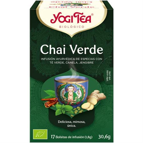 Infusión Chai Verde Yogi Tea Bio 17 Bolsitas 30,6g