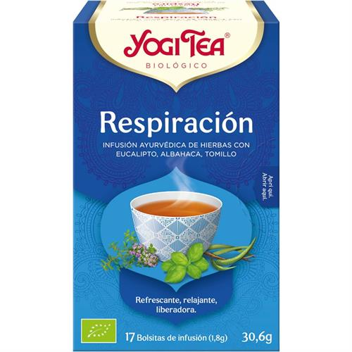 Infusión Respiración Yogi Tea Bio 17 Bolsitas 30,6g