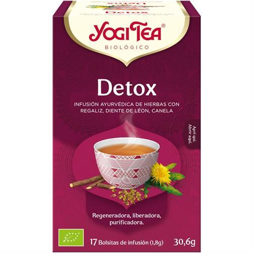 Infusión Detox Yogi Tea Bio 17 Bolsitas 30,6g
