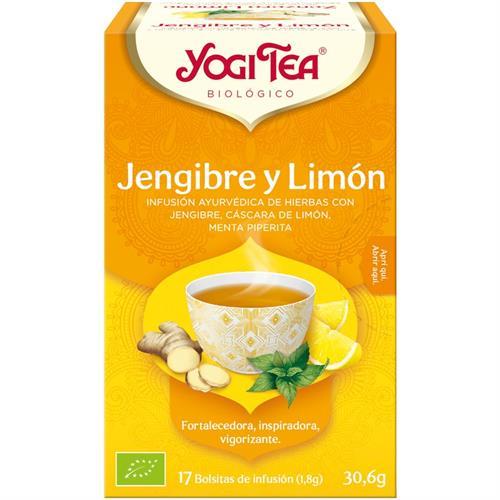 Infusión Jengibre y Limón Yogi Tea Bio 17 Bolsitas 30,6g