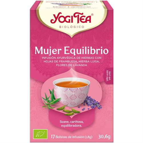Infusión Mujer Equilibrio Yogi Tea Bio 17 Bolsitas 30,6g