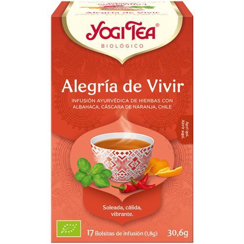 Infusión Alegría de Vivir Yogi Tea Bio 17 Bolsitas 30,6g