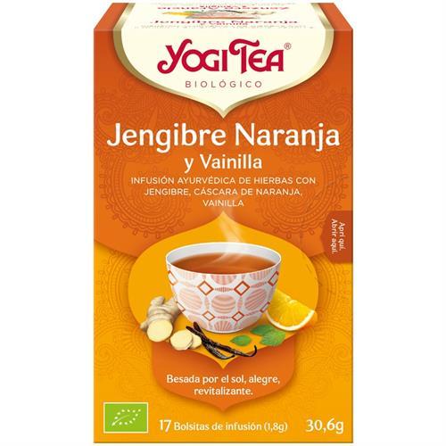Infusión Jengibre Naranja y Vainilla Yogi Tea Bio 17 Bolsitas 30,6g
