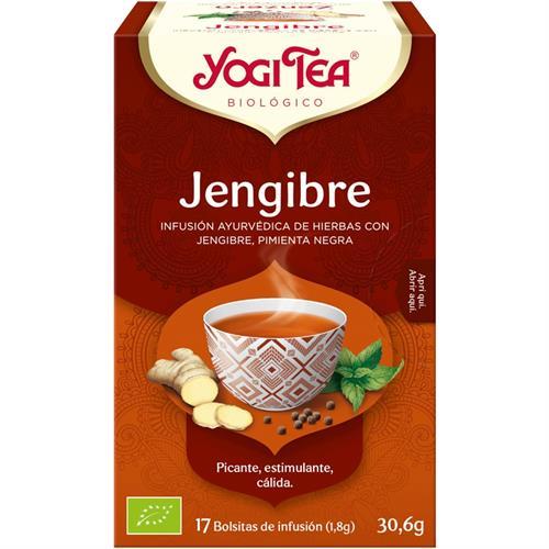 Infusión Jengibre Yogi Tea Bio 17 Bolsitas 30,6g
