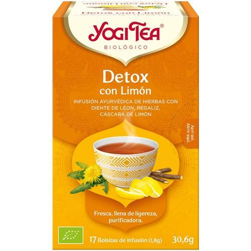 Infusión Detox con Limón Yogi Tea Bio 17 Bolsitas 30,6g