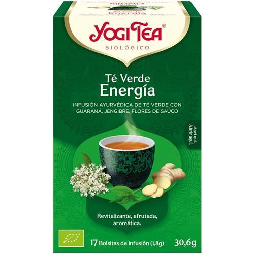Infusión Té Verde Energía Yogi Tea Bio 17 Bolsitas 30,6g