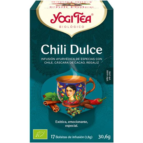 Infusión Chili Dulce Yogi Tea Bio 17 Bolsitas 30,6g