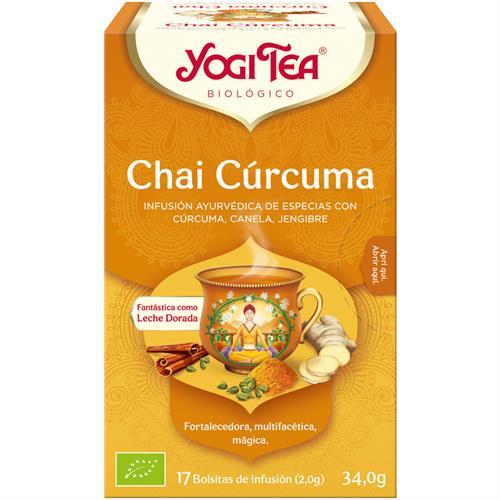 Infusión Chai Cúrcuma Yogi Tea Bio 17 Bolsitas 34g