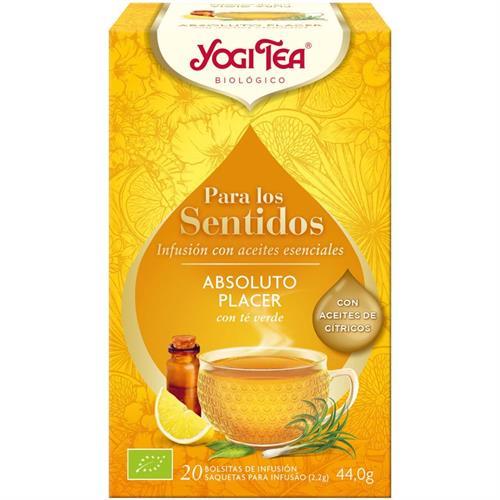 Infusión Sentidos Absoluto Placer Yogi Tea Bio 17 Bolsitas 44g