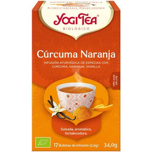 Infusión Cúrcuma Naranja Yogi Tea Bio 17 Bolsitas 34g