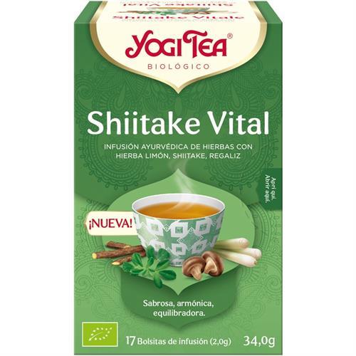 Infusión Shiitake Vital Yogi Tea Bio 17 Bolsitas 34g