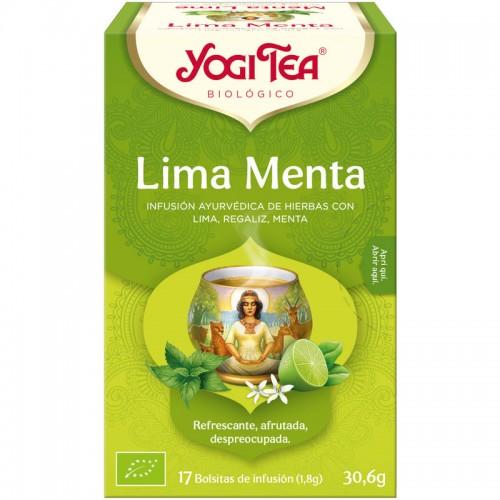Infusión de Menta y Lima Yogi Tea Bio 17 Bolsitas 30,6g