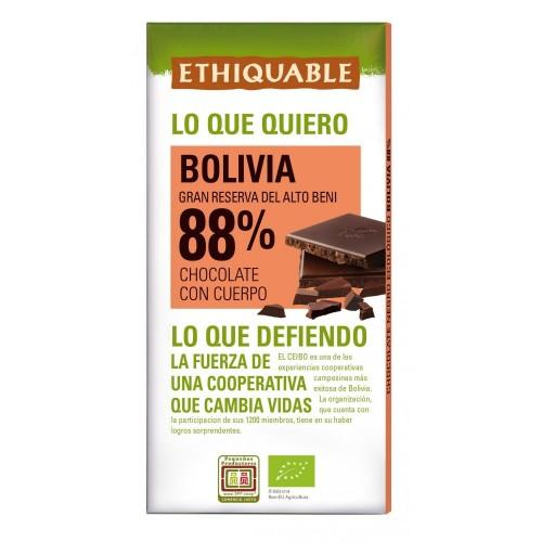 Chocolate Negro 88% Ethiquable Bio 100g
