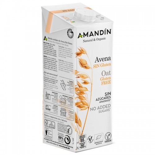 Bebida de Avena Sin Gluten Amandin Bio 1L