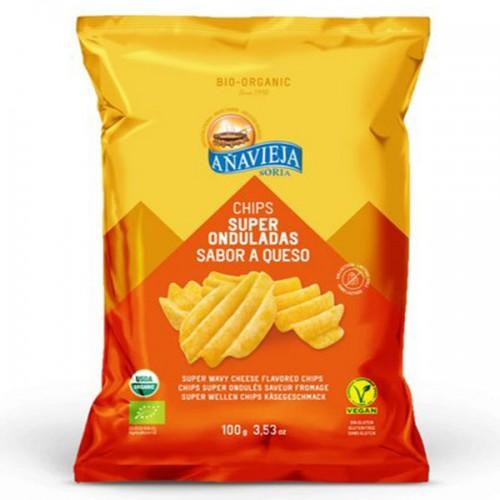 Patatas Fritas Eco Super Onduladas Sabor Queso Bio 100g
