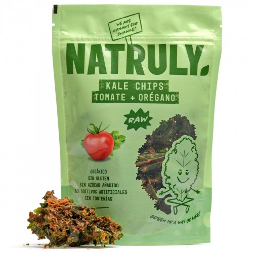 Kale Chips Tomate y Orégano Natruly Bio 30g