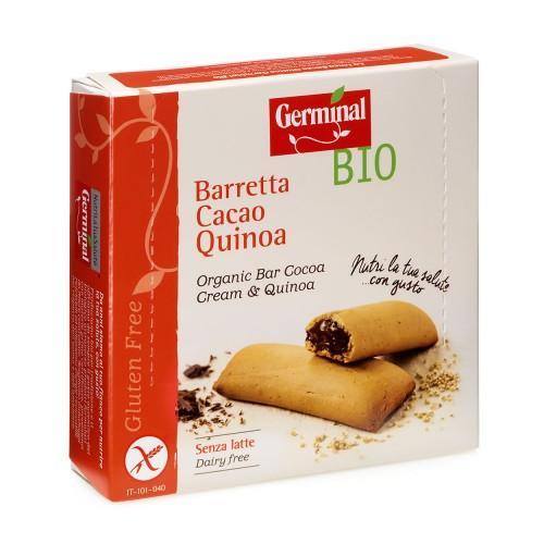 Barritas de Quinoa Rellenas de Crema de Cacao Sin Gluten Bio 180g