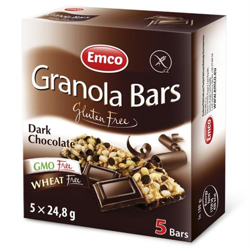 Barritas con Chips de Chocolate Sin Gluten Emco 5x25g