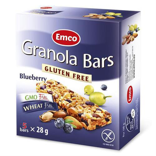 Barritas con Arándanos Sin Gluten Emco 5x25g