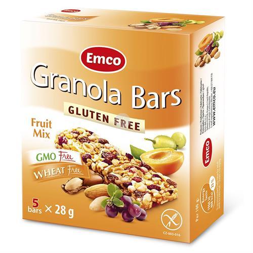 Barritas con Frutas Sin Gluten Emco 5x25g