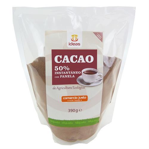Cacao Instantáneo 50% con Panela Comercio Justo Bio 390g