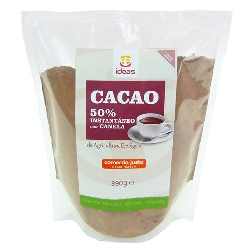 Cacao Instantáneo 50% con Canela Comercio Justo Bio 390g