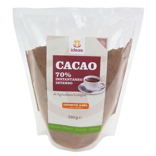 Cacao Instantáneo 70% Intenso Comercio Justo Bio 390g