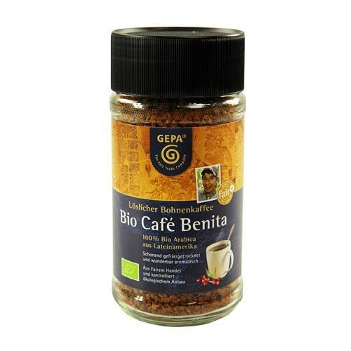 Café Instantáneo Liofilizado 100% Arábica Benita Gepa Bio 100g
