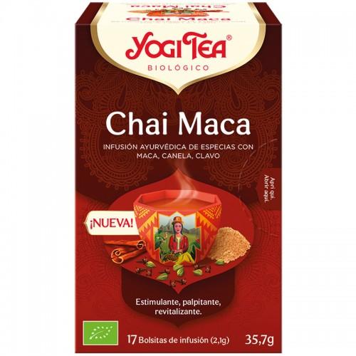 Infusión Chai Maca Yogi Tea Bio 17 Bolsitas 35,7g