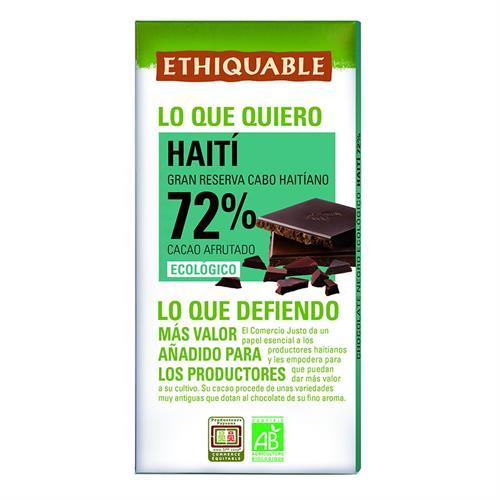 Chocolate Negro 72% Haití Ethiquable Bio 100g