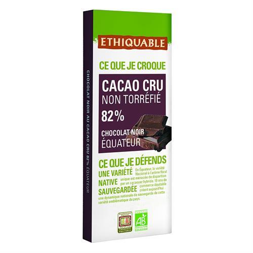 Tableta de Cacao Crudo 82% Ecuador Ethiquable Bio 80g
