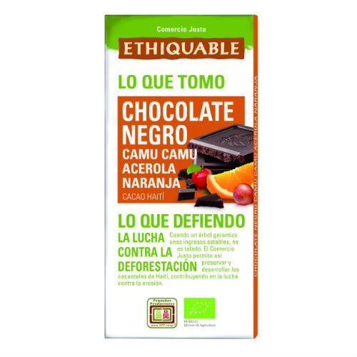 Chocolate Negro con Camu Camu Acerola y Naranja Ethiquable Bio 100g