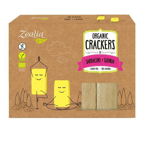 Crackers de Sarraceno y Quinoa Sin Gluten Zealia Bio 120g
