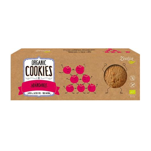 Cookies de Arándanos Sin Gluten Zealia Bio 135g