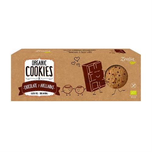 Cookies de Chocolate y Avellanas Sin Gluten Zealia Bio 135g