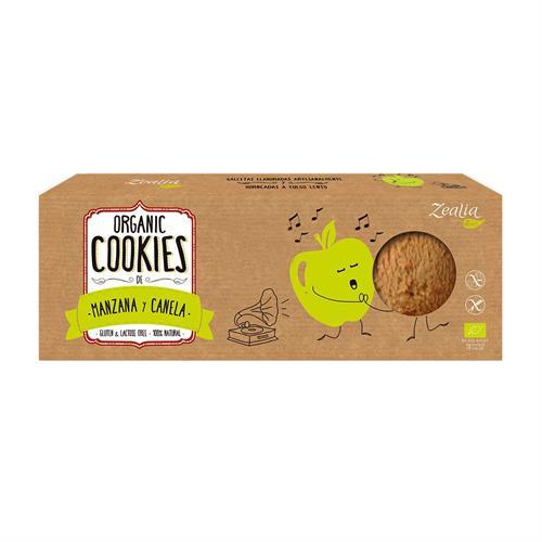 Cookies de Manzana y Canela Sin Gluten Zealia Bio 135g