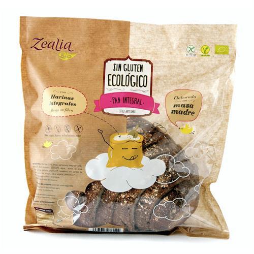 Pan Integral Sin Gluten Zealia Bio 370g