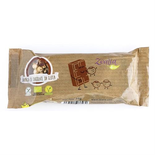 Barrita de Chocolate y Avellanas Sin Gluten Zealia Bio 35g