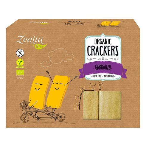 Crackers de Garbanzo Sin Gluten Zealia Bio 120g