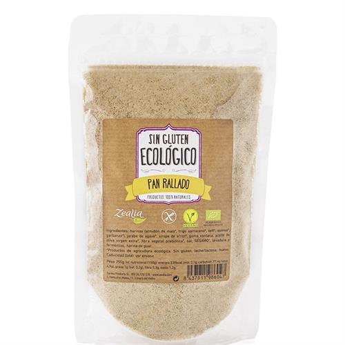 Pan Rallado Sin Gluten Zealia Bio 250g