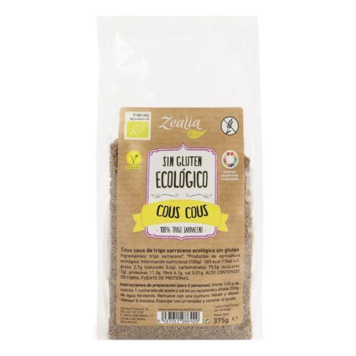 Cous Cous de Trigo Sarraceno Sin Gluten Zealia Bio 375g