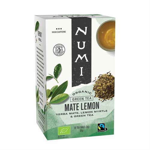 Té Verde con Mate y Mirto de Limón Numi Bio 18 bolsas