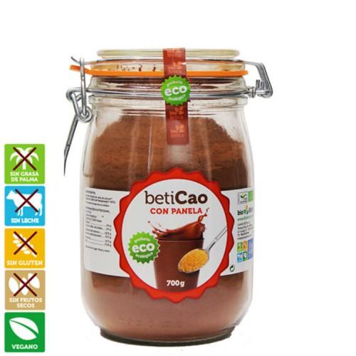 Cacao Soluble con Panela en Bote de Cristal Beticao Bio 700g